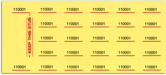chinese auction tickets yellow